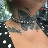 Cone Stud Leather Choker