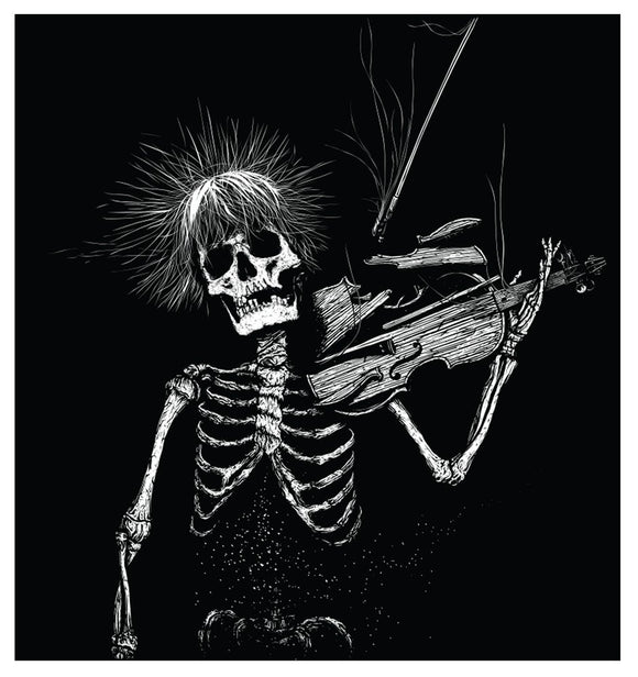 Violin Skeleton - In Death We Float Art Print