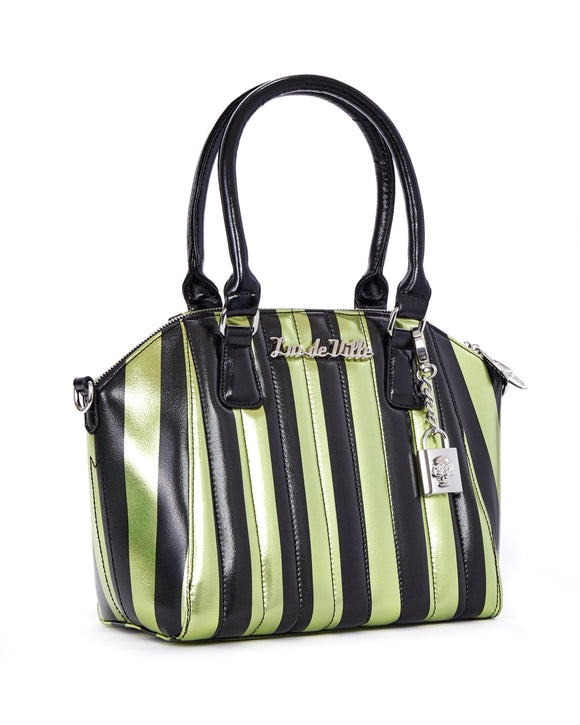 Carnival Tote Green & Metallic Black