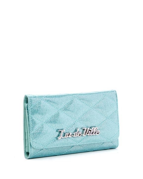 Mermaid Blue Sparkle Route 66 Wallet