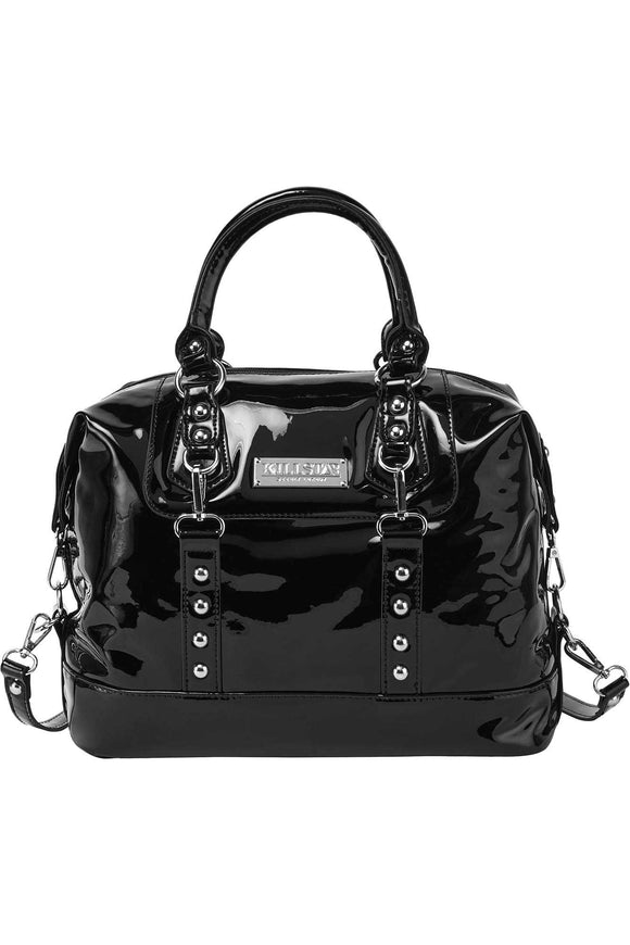 Gloss Black Jessie Bag