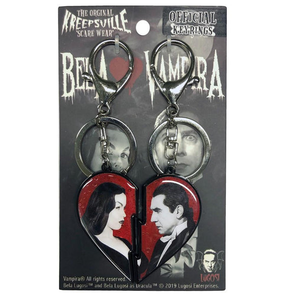 Bela Loves Vampira Broken Heart Key Chain Set