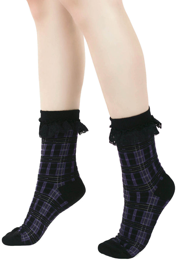 Plaid Killmore Ankle Socks