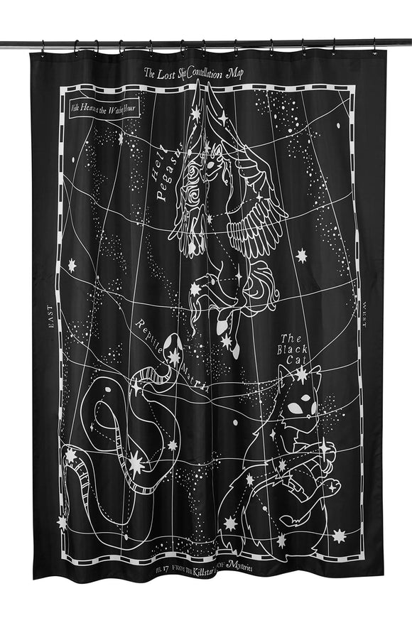 Lost Skies Constellation Shower Curtain