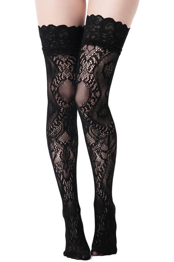 Lovelace Thigh High Stockings