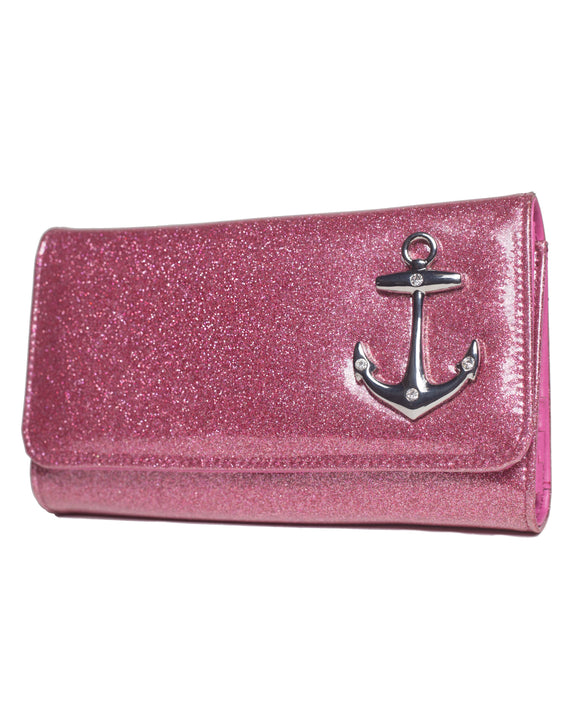 Hold Fast Wallet Pink Sparkle
