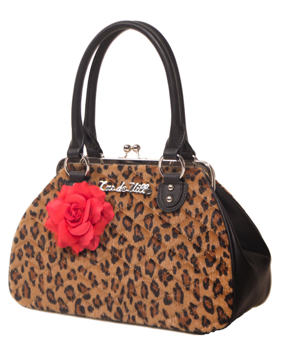 Leopard Black Dahlia Kiss Lock
