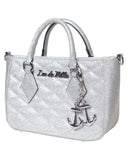 Mini Hold Fast Tote Silver Sparkle