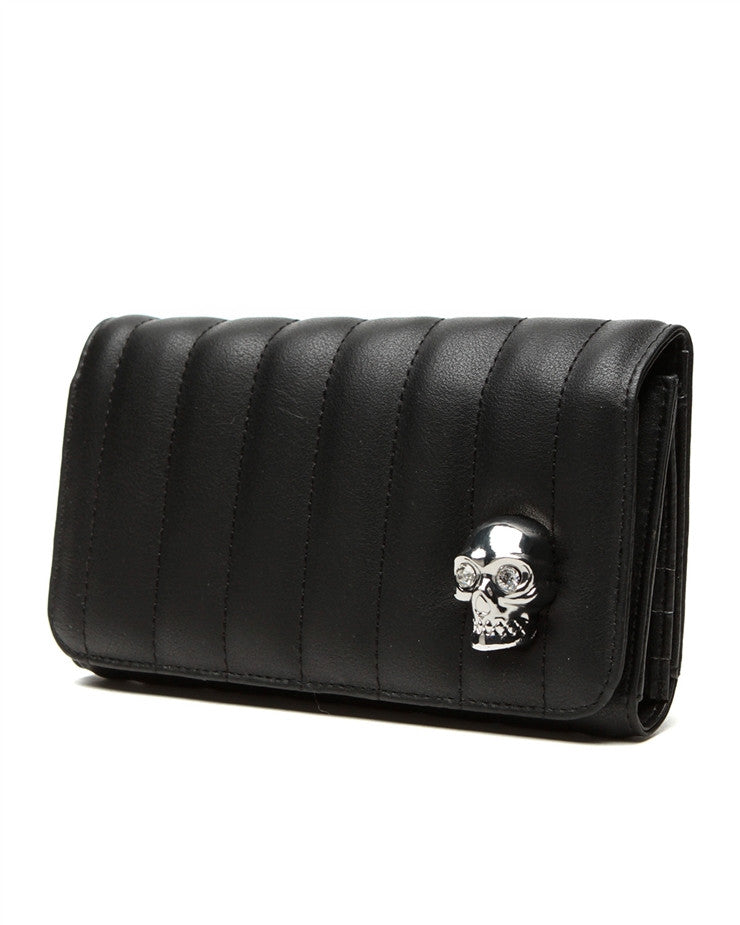 Lady Vamp Wallet Matte Black - DeadRockers