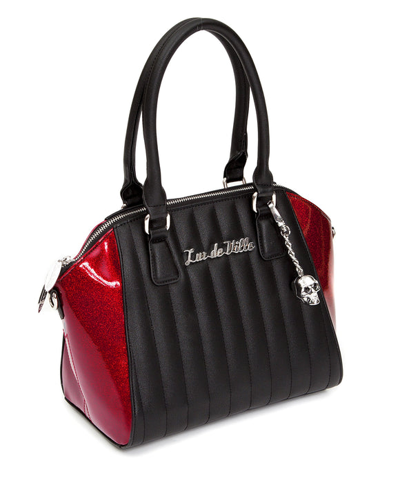 Lady Vamp Tote Black & Crimson Red Sparkle