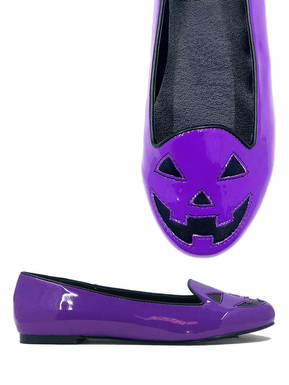 Jack O Lantern Purple & Black Flats