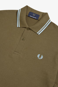 Fred Perry Twin Tipped Polo Chocolate / Ice