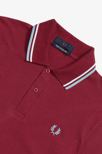 Fred Perry Twin Tipped Polo Maroon