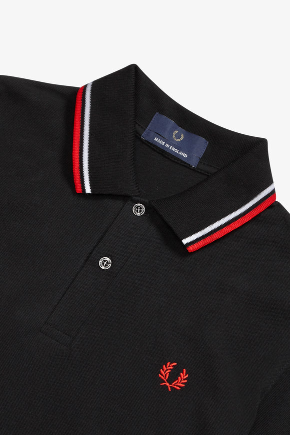 Fred Perry Polo Black / White / Red
