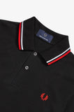Fred Perry Twin Tipped Polo Black / White / Red