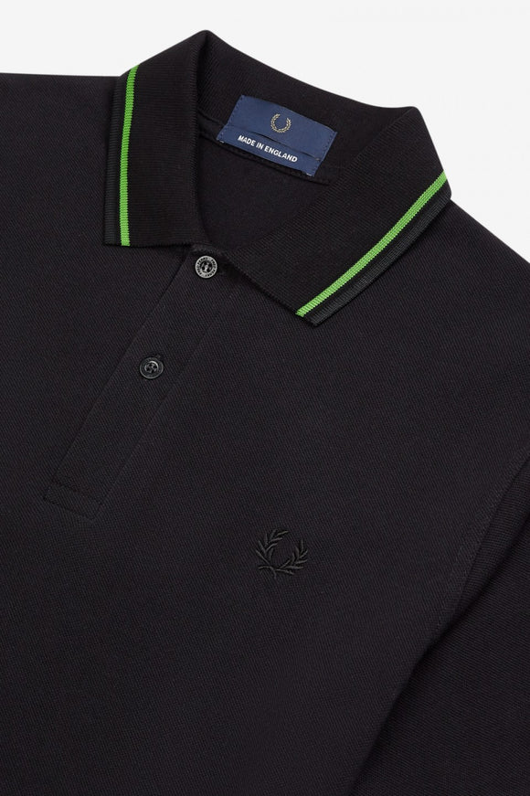 Fred Perry Twin Tipped Polo Black / Green (Only Size 38 left!)