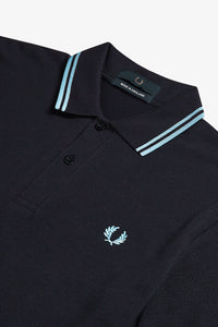 Fred Perry Twin Tipped Polo Navy / Ice (Last One! Size 40)