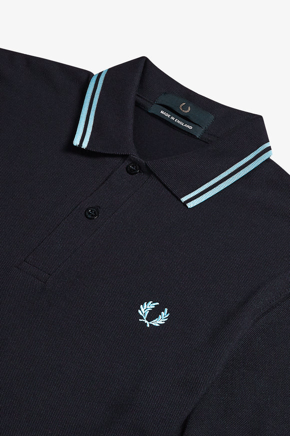 Fred Perry Twin Tipped Polo Navy / Ice
