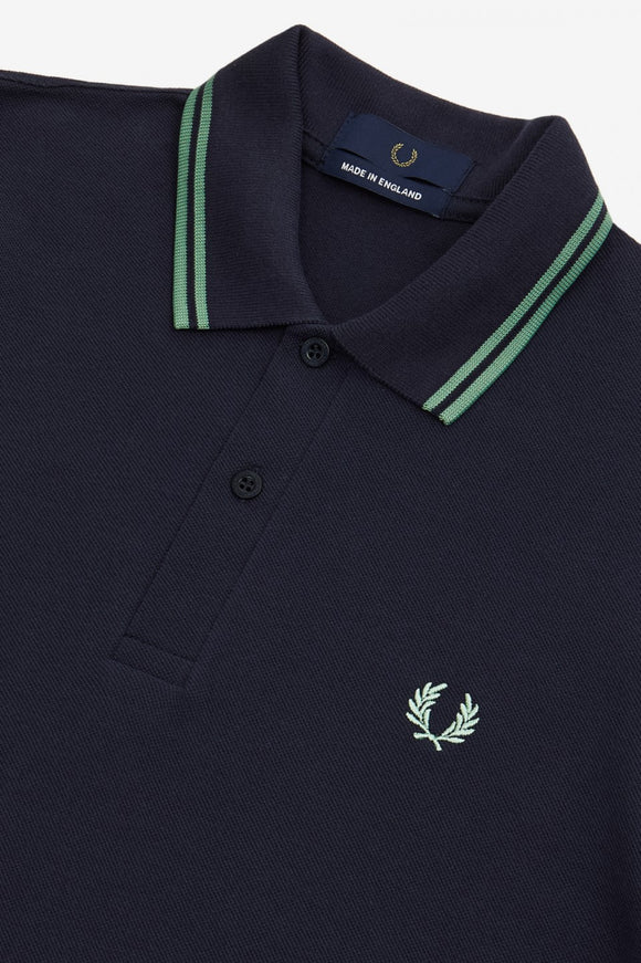Fred Perry Twin Tipped Polo Navy / Pistachio