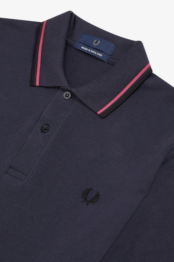 Fred Perry Twin Tipped Polo Navy / Magenta / Black