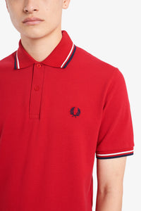 Fred Perry Polo Salsa / White / Blue