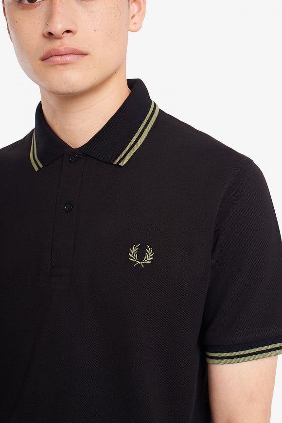 Fred Perry Polo Black / Olive