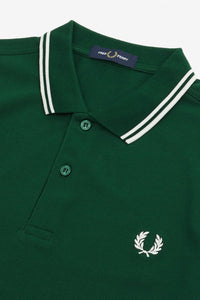 Fred Perry Twin Tipped Polo Ivy Green (Only Size Small left!)