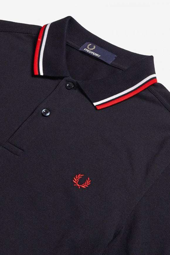 Fred Perry Twin Tipped Polo Navy / Red / White