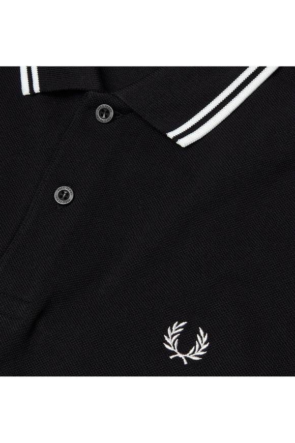 Fred Perry Twin Tipped Polo Black / White