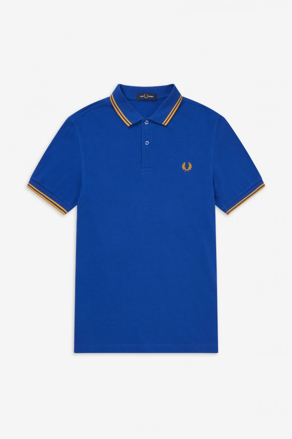 Fred Perry Polo Cobalt Blue / Yellow