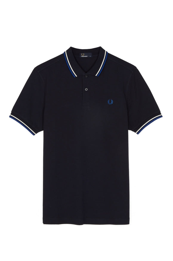 Fred Perry Twin Tipped Polo Navy / White / Blue