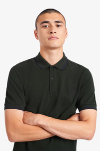 Fred Perry Twin Tipped Polo British Racing Green / Navy
