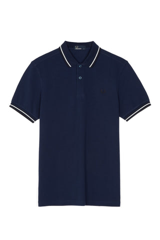 Fred Perry Polo Carbon Blue / Snow White / Navy