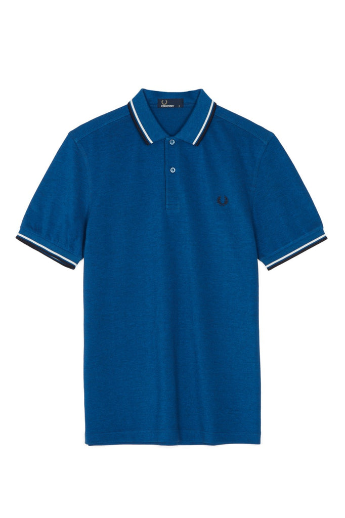 Fred Perry Polo Carbon Oxford / White / Navy