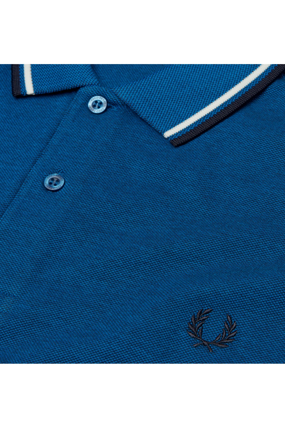 70895789b Fred Perry Polo Carbon Oxford / White / Navy – DeadRockers