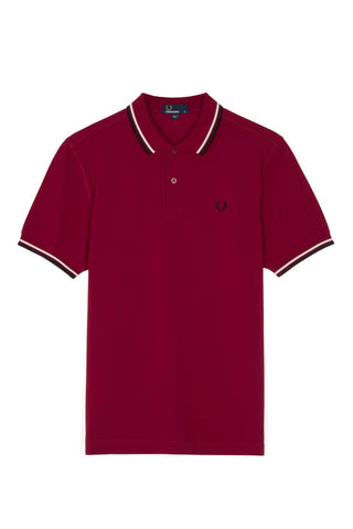 Fred Perry Polo Sherry Red / White / Black