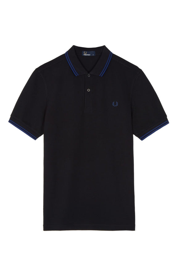 Fred Perry Polo Black / Medieval Blue