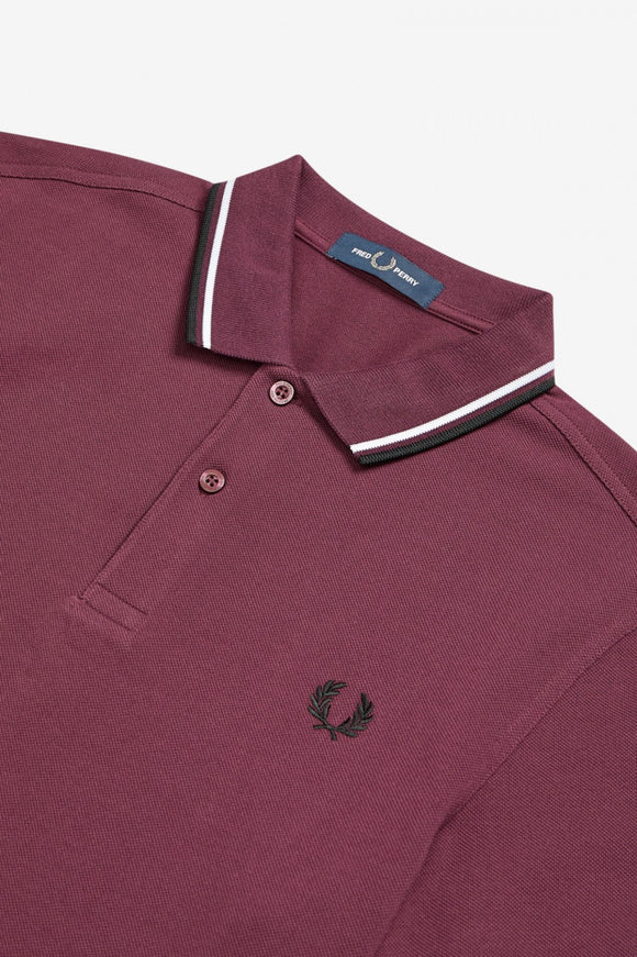 Fred Perry Polo Mahogany / White / Black