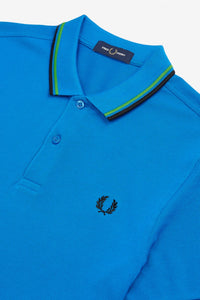 Fred Perry Polo Modern Blue / Modern Green / Black