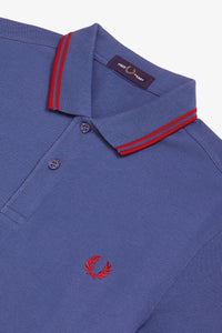 Fred Perry Polo Midnight Blue / Siren Red