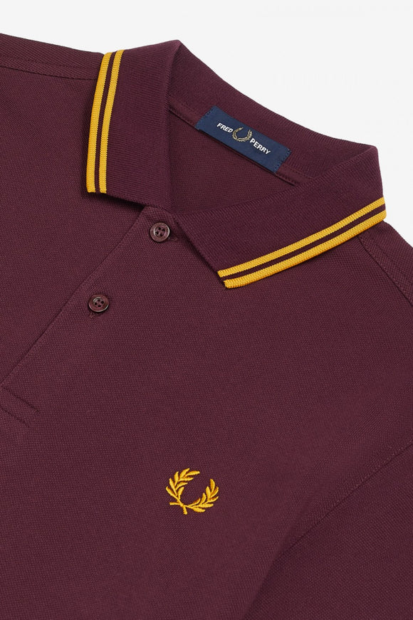 Fred Perry Polo Mahogany / Gold / Gold
