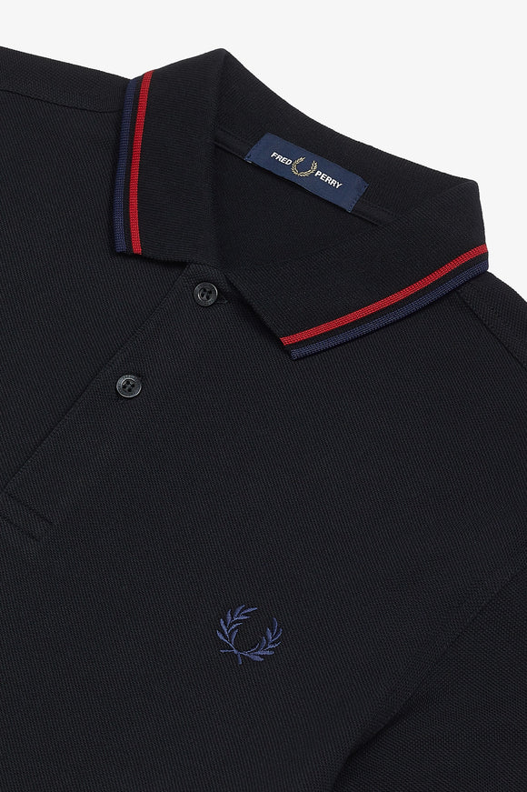 Fred Perry Polo Black / Siren / Carbon Blue
