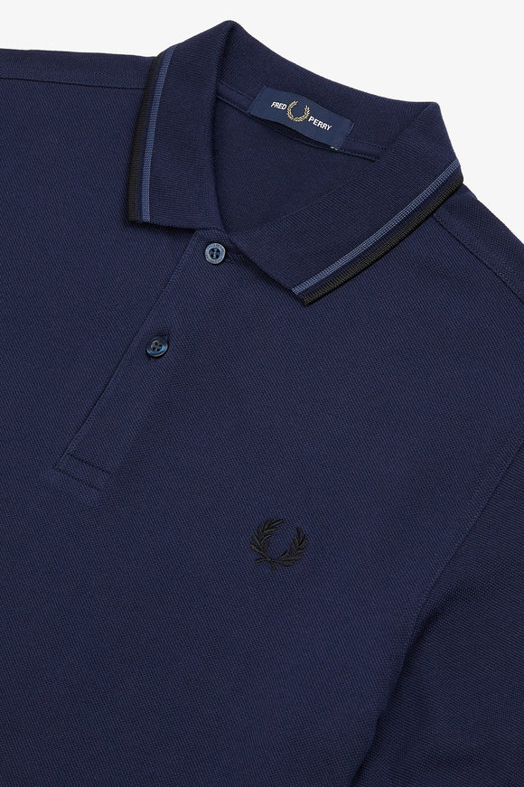 Fred Perry Polo Carbon Blue / Midnight Blue / Black
