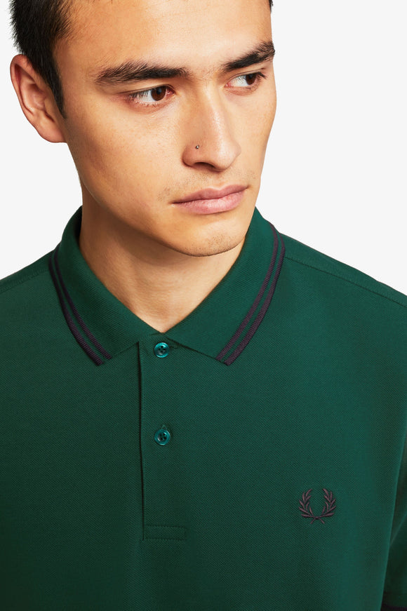 Fred Perry Polo Ivy / Navy / Navy