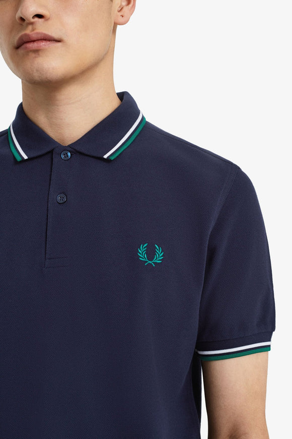 Fred Perry Polo Carbon Blue / White / Rafg