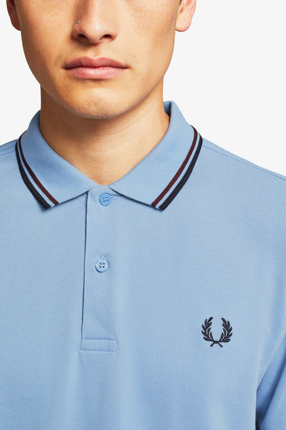 Fred Perry Polo Sky / Mahogany / Navy