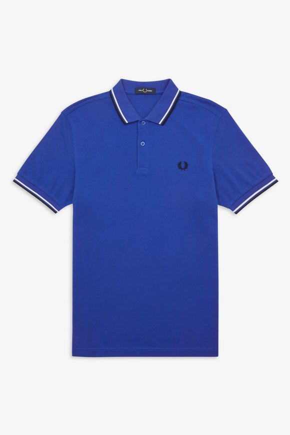 Fred Perry Polo Cobalt / Snow White / Black