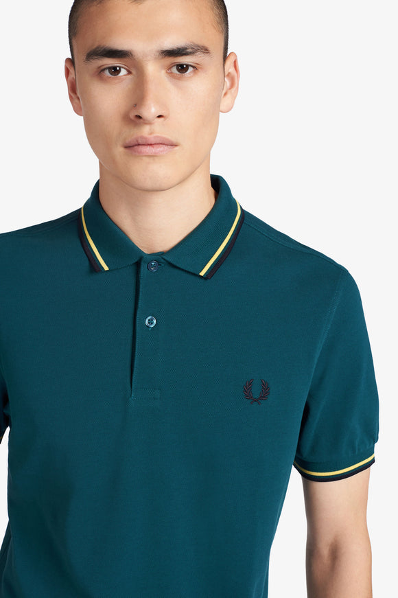 Fred Perry Polo Petrol Dreams / Daffodil / Navy