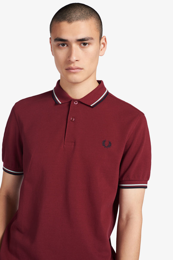 Fred Perry Polo Tawny Port / Mist / Navy