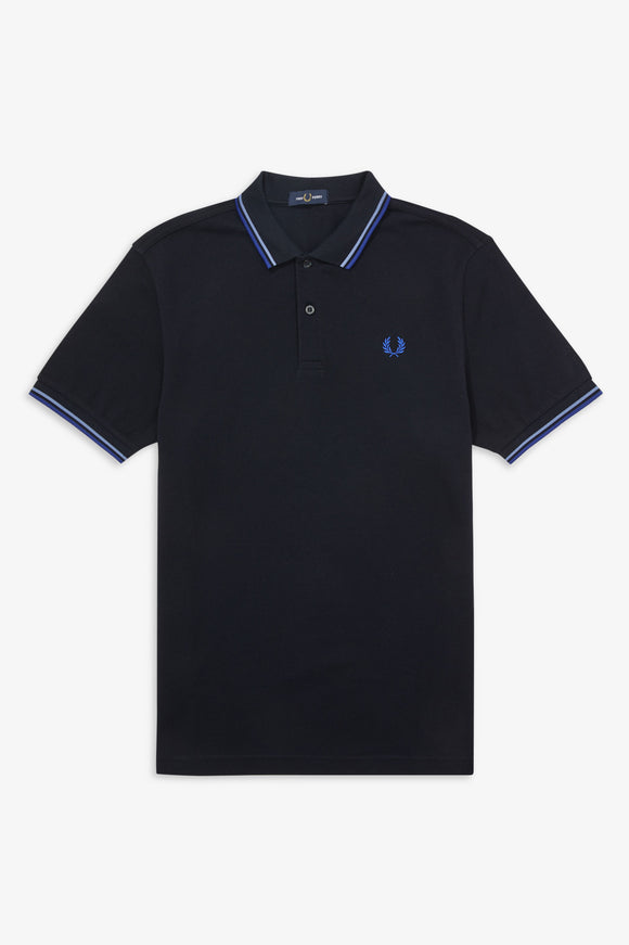 Fred Perry Polo Navy / Riviera / Cobalt (Last One Size Small!)